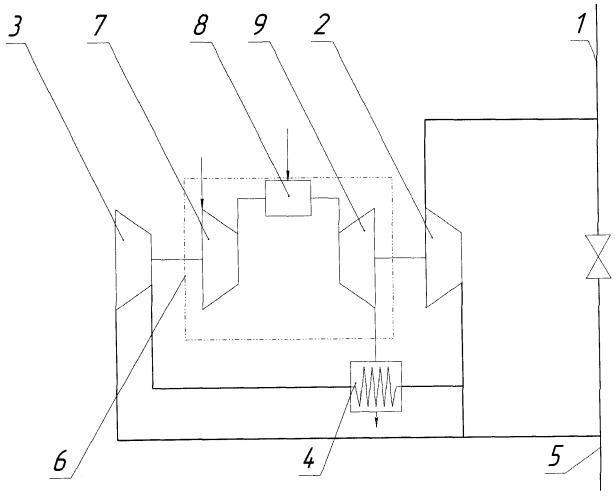 Комбинированный газотурбинный газоперекачивающий агрегат