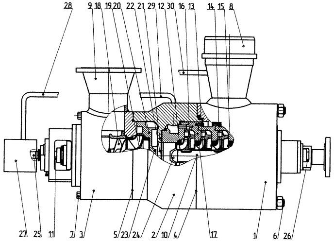 Комбинированный многоступенчатый центробежный насос