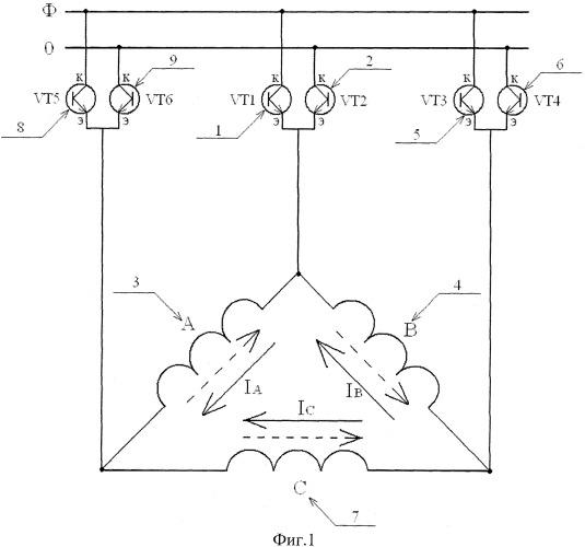 Однофазный частотный регулятор скорости, ведомый сетью, для трехфазного асинхронного короткозамкнутого электродвигателя