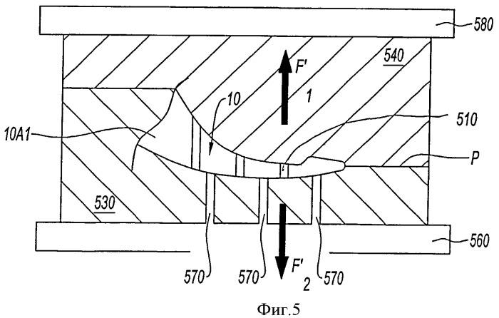 Способ и устройство изготовления керамических литейных стержней для лопаток газотурбинных двигателей