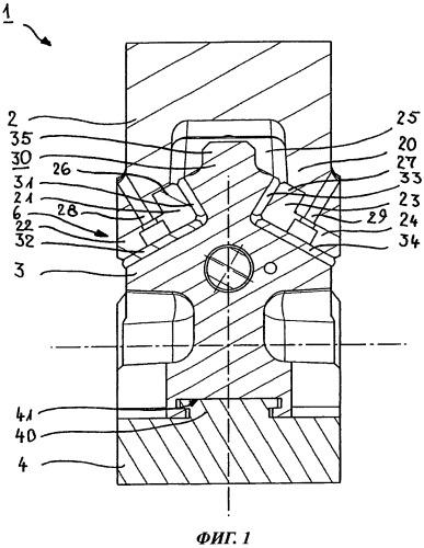 Клиновой механизм с приемником ползуна