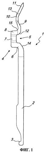 Толкатель для переноса петель в чулочной кругловязальной машине для изготовления трикотажных изделий