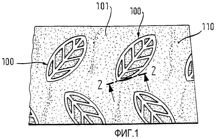 Гигиеническое или очищающее изделие, содержащее, по меньшей мере, один структурированный слой, и способ структурирования слоя