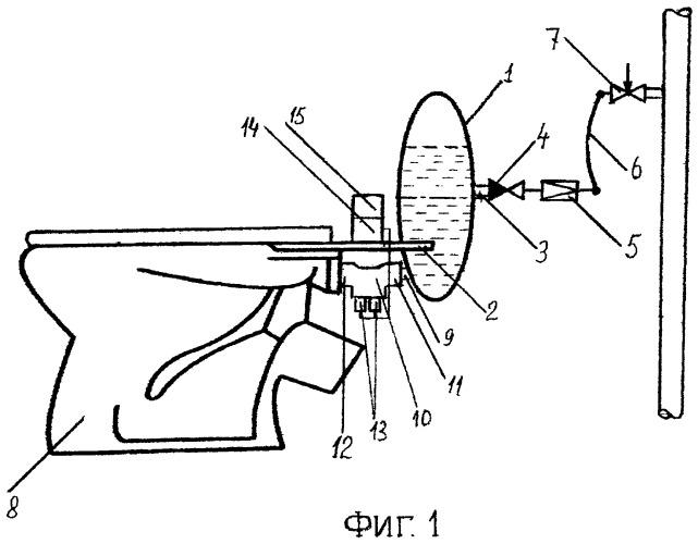 Устройство автоматического смыва для унитаза