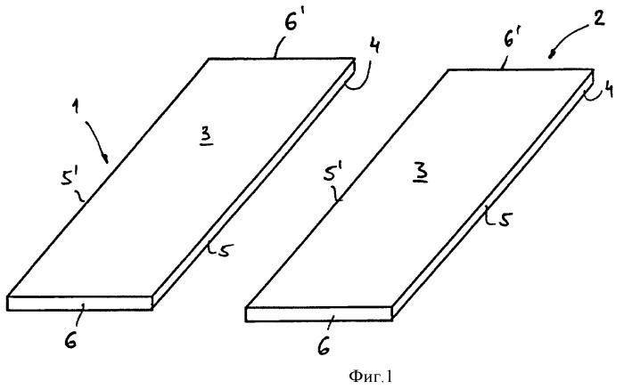 Система соединения панелей в форме досок