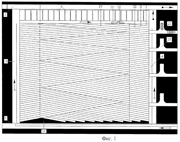 Способ разработки мощного крутонаклонного угольного пласта полосами по падению