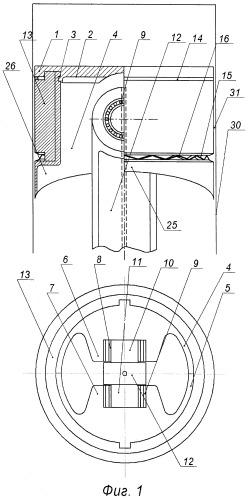 Составной шатунно-поршневой узел с уплотнителем цилиндропоршневой группы двигателя внутреннего сгорания