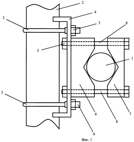 Устройство для крепления элементов антенн
