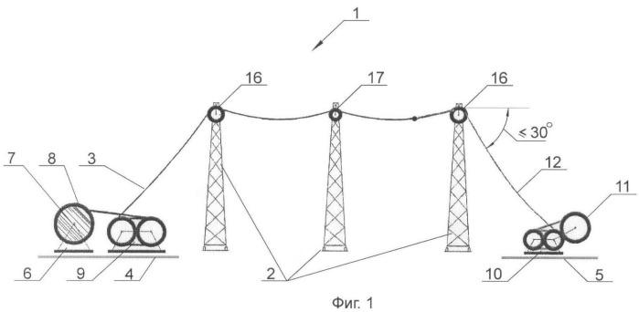 Высоковольтная воздушная линия электропередачи и способ возведения высоковольтной воздушной линии электропередачи