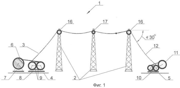 Воздушная линия электропередачи и способ реконструкции воздушной линии электропередачи