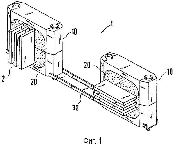 Несущее устройство для сборных токопроводных шин