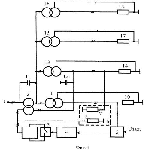 Устройство для стабилизации напряжения на высокой стороне трансформаторных подстанций предприятия