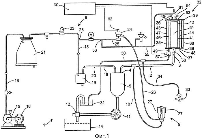 Доильная система, способ и устройство для минимизации потребности в электроэнергии доильной системы с вакуумным управлением