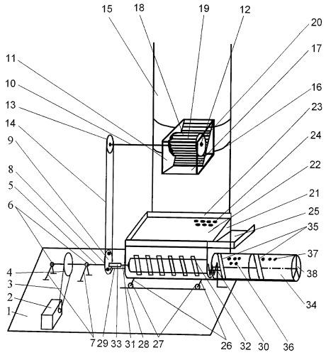 Переносное устройство для выделения семян из шишек