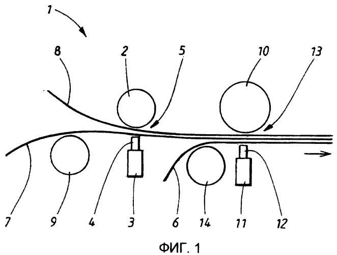 Способ и устройство для изготовления многослойной структуры