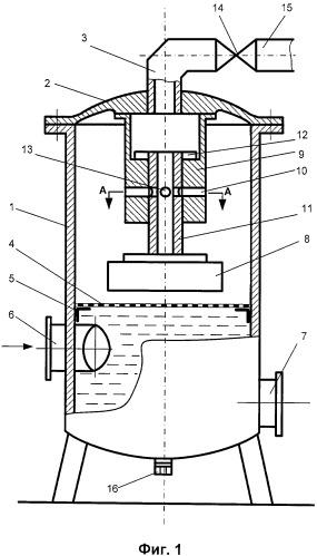 Установка для отделения воздуха от жидкости, перекачиваемой по трубопроводу