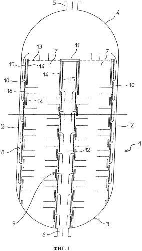 Стеночная конструкция для слоев катализатора в реакторах синтеза и способ ее изготовления