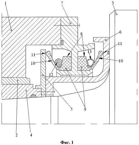 Уплотнительное устройство опоры прокатного валка