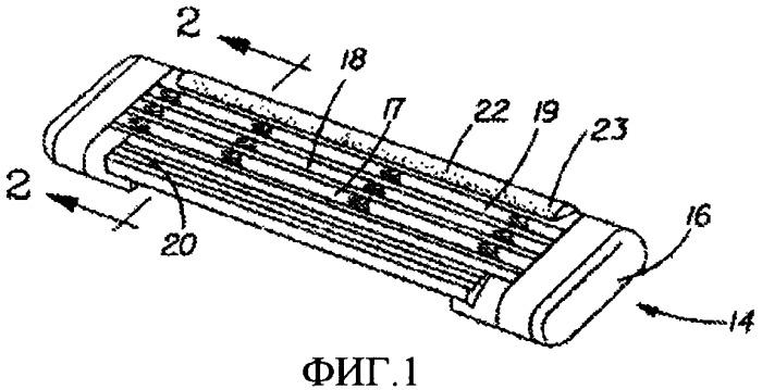 Картридж бритвенного прибора с контактирующим с кожей компонентом