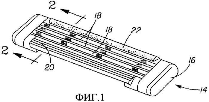 Контактирующий с кожей компонент картриджа бритвенного прибора