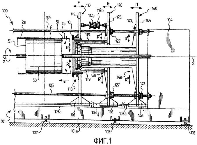Агрегат и способ для изготовления шин для колес транспортного средства