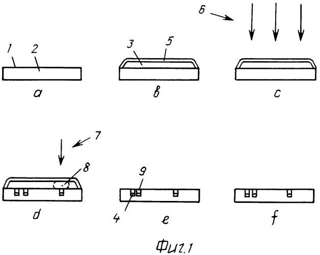 Способ создания изображения из монокристаллов в теле листового невпитывающего материала