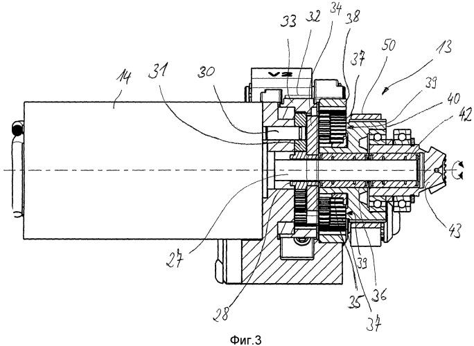 Обвязочное устройство с передаточным механизмом