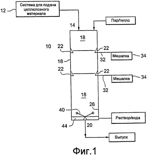Емкость для обработки соломы или других легких объемных материалов и способ ее осуществления