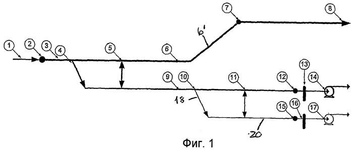 Подводная установка и способ для разделения жидкой фракции и газовой фракции