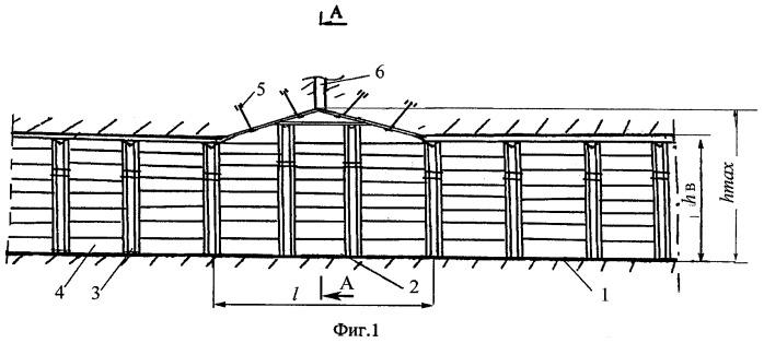 Способ изоляции аварийного участка подземной выработки
