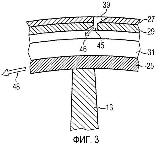 Устройство турбины и способ охлаждения бандажа, расположенного у кромки лопатки турбины
