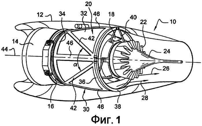 Внешняя оболочка воздуховода вентилятора газотурбинного двигателя