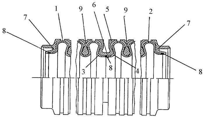 Способ герметичного соединения тонкостенных гофрированных оболочек