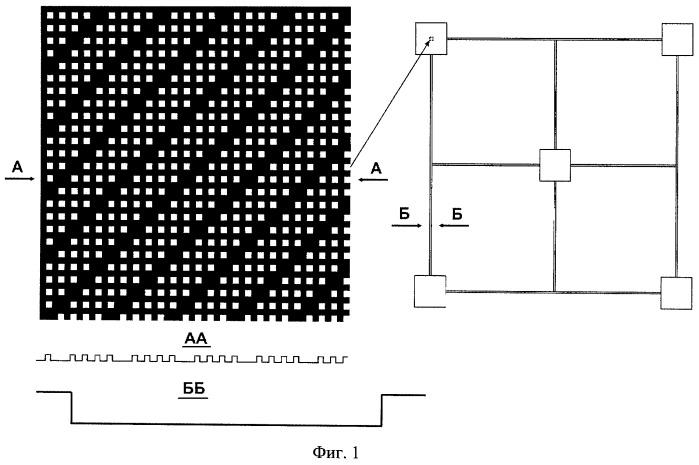 Тестовая структура для калибровки предметных столиков растровых электронных микроскопов в нанометровом диапазоне
