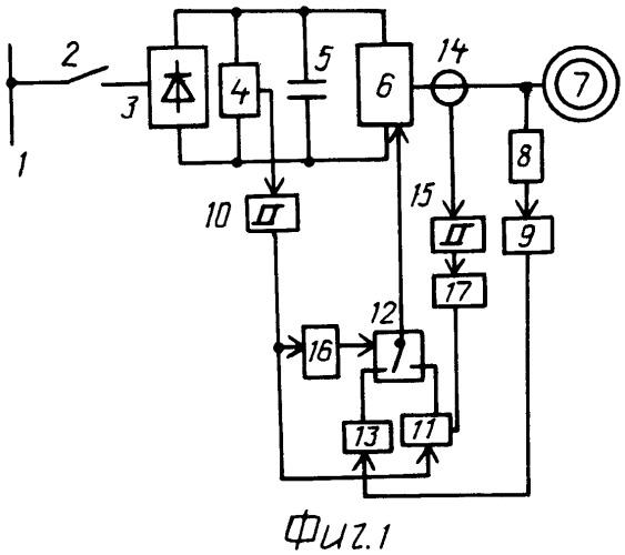 Способ подхвата преобразователя частоты