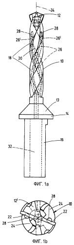 Сверлильный инструмент для металлообрабатывающих станков, а также способ его изготовления