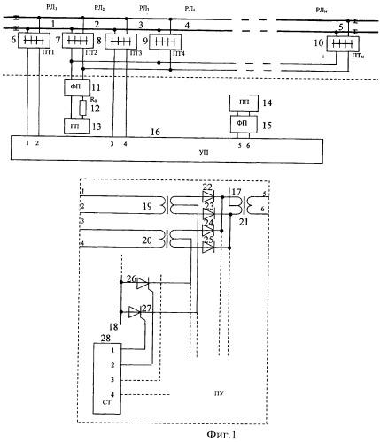 Устройство подключения приборов к рельсовым линиям перегона