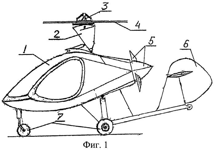 Автожир двухместный с вертикальным взлетом и посадкой