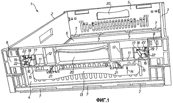 Устройство деблокирования откидных боковых стенок ящиков или контейнеров