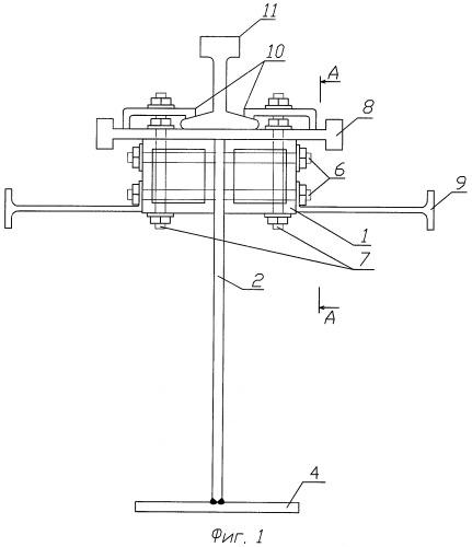Способ исключения возможности появления усталостных трещин в узле соединения рельса с двутавровой подкрановой балкой
