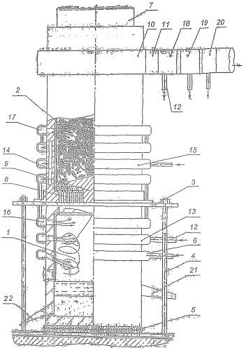 Устройство для получения расплавленного металла и синтез-газа и способ получения расплавленного металла и синтез-газа в этом устройстве