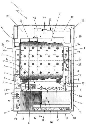 Бытовая сушилка для белья с генератором пара