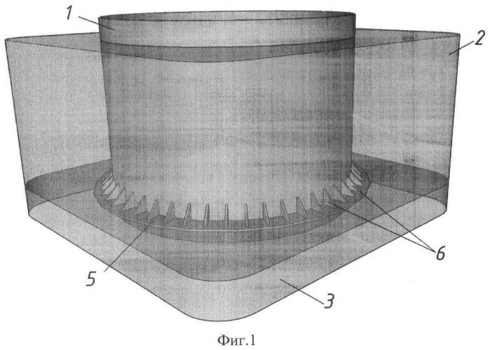 Оболочка большого диаметра с опорным кольцом