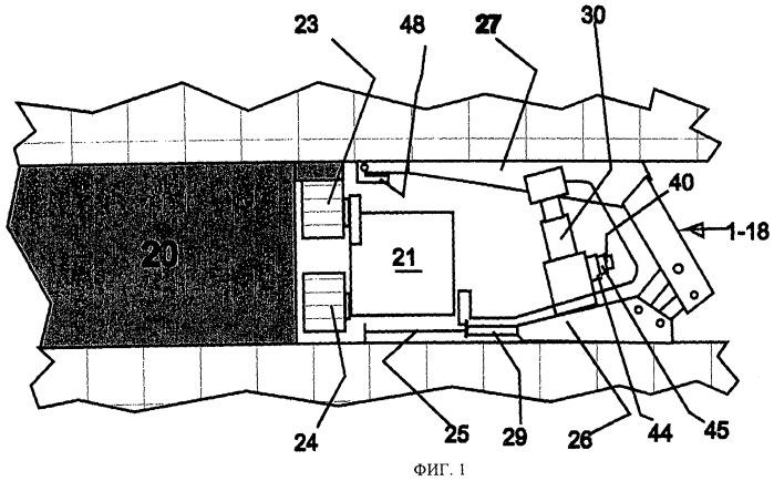 Блок управления секции механизированной крепи для осуществления указанной секцией своих функций при креплении лавы в горной выработке
