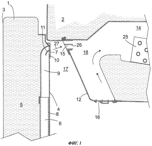 Холодильный аппарат, оборудованный каналом для воздуха в двери