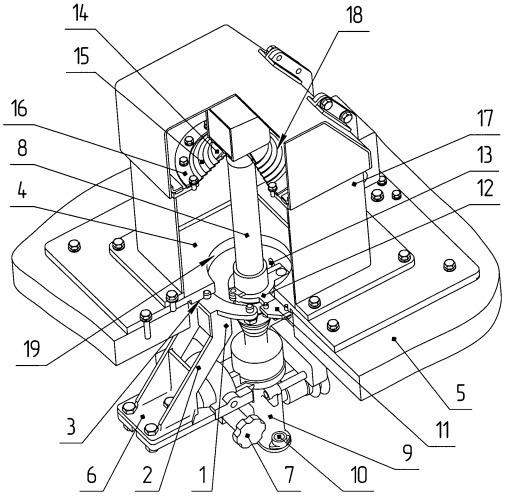 Установочный комплект для визирного оптического прибора