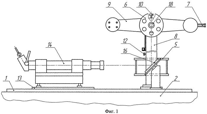 Устройство для определения погрешности измерений горизонтальных и вертикальных углов геодезических угломерных приборов