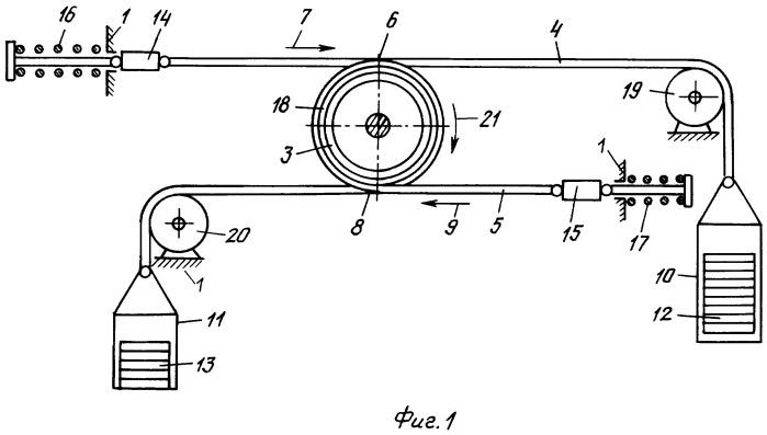 Стенд для исследования параметров промежуточного привода ленточно-канатного конвейера