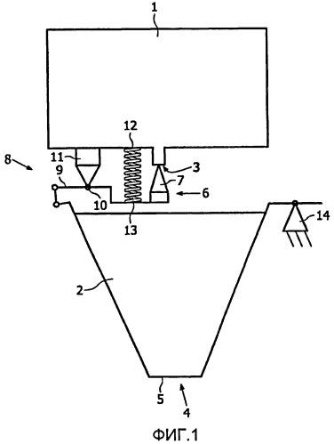 Устройство для приготовления напитка, имеющее емкость для воды и элемент для установления размера выпускного отверстия емкости для воды