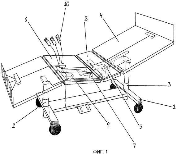 Подъемная стойка для процедурных столов, медицинских и реабилитационных кроватей